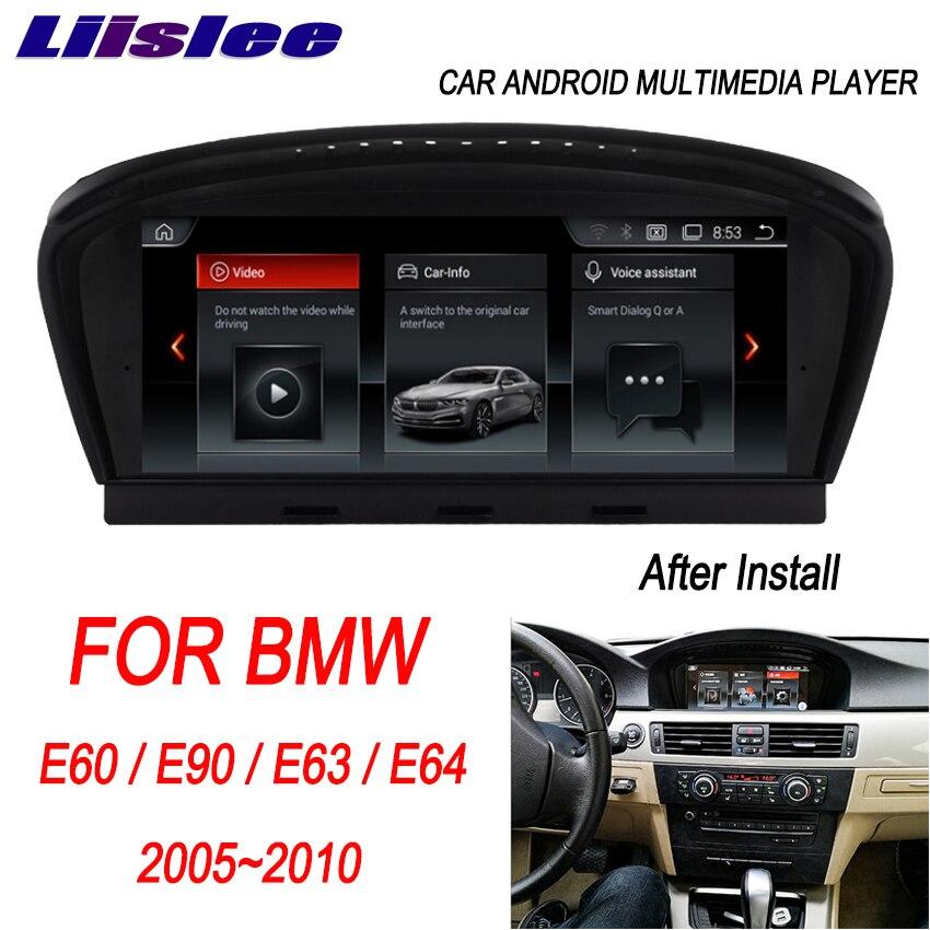 Liislee pour BMW E60/E90/E63/E64 2005 ~ 2010 8.8 ''lecteur multimédia autoradio Android Navigation GPS système CCC CIC