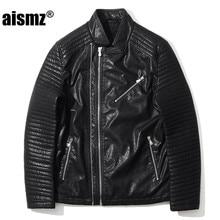 Aismz Motorcycle font b Leather b font font b Jackets b font font b Men b