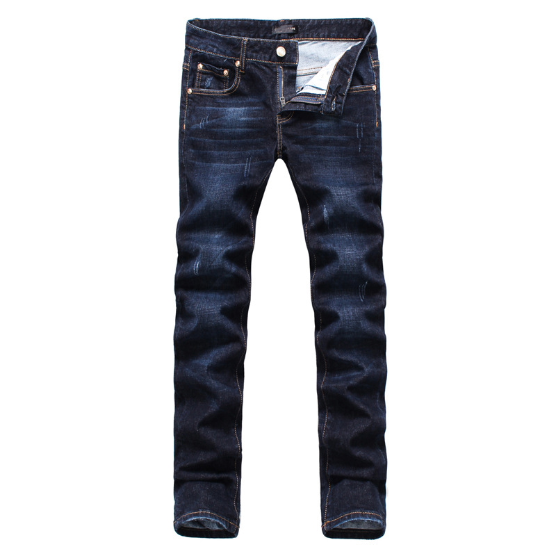 2017 high quality men jeans slim straight pants the spring and autumn period and the leisure baggy pants brand of jeans men s cowboy jeans fashion blue jeans pant men plus sizes regular slim fit denim jean pants male high quality brand jeans