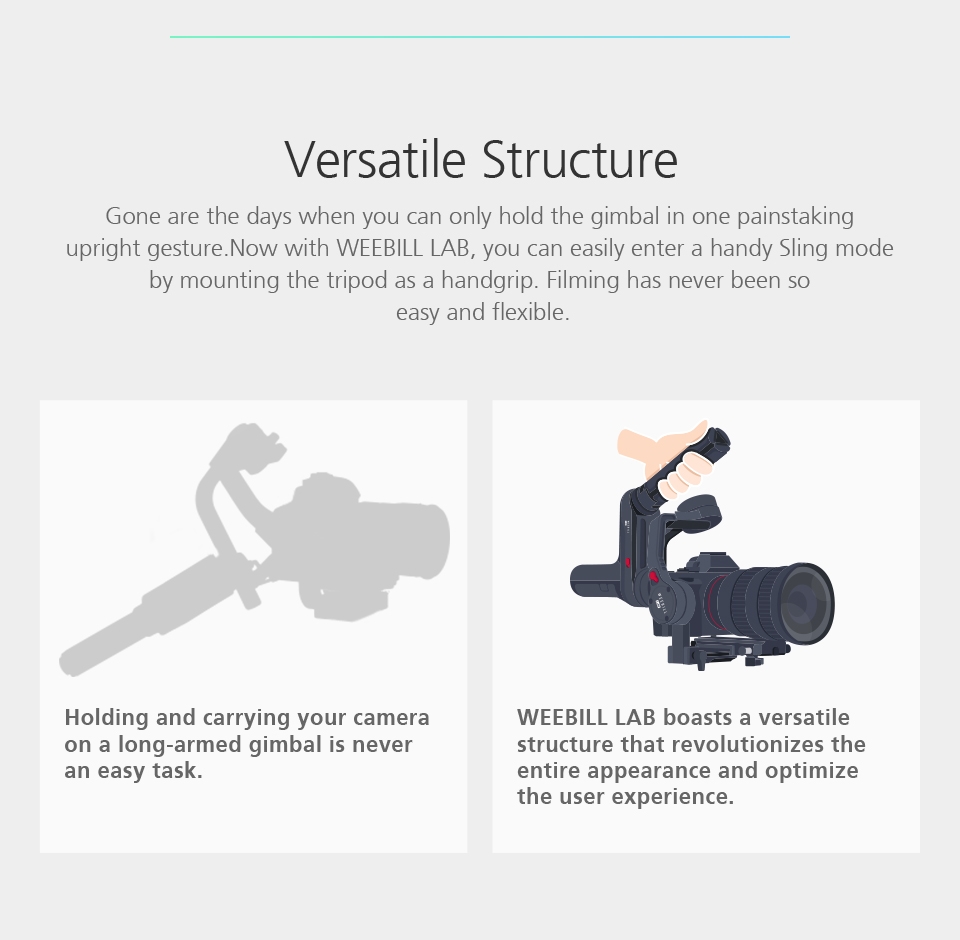 ZHIYUN Official Weebill LAB 3-Axis Image Transmission Stabilizer for Mirrorless Camera OLED Display Handheld Gimbal 4