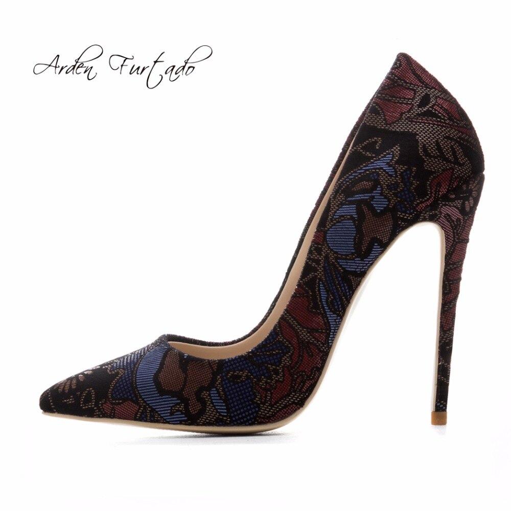 Glissement Grande Mode 40 flowers La Taille Sexy Femme 10cm Chaussures Black Haute Furtado 2018 Nouveau Style Pompes Cm Automne Stylets 45 Sur Talons 12 Pour 12cm Arden Printemps wUZFxRBqn