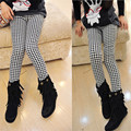 Children's Clothing Winter Kids Pants Cotton Thick Warm Girls Leggings Elastic Child Trousers Houndstooth Toddler Leggings