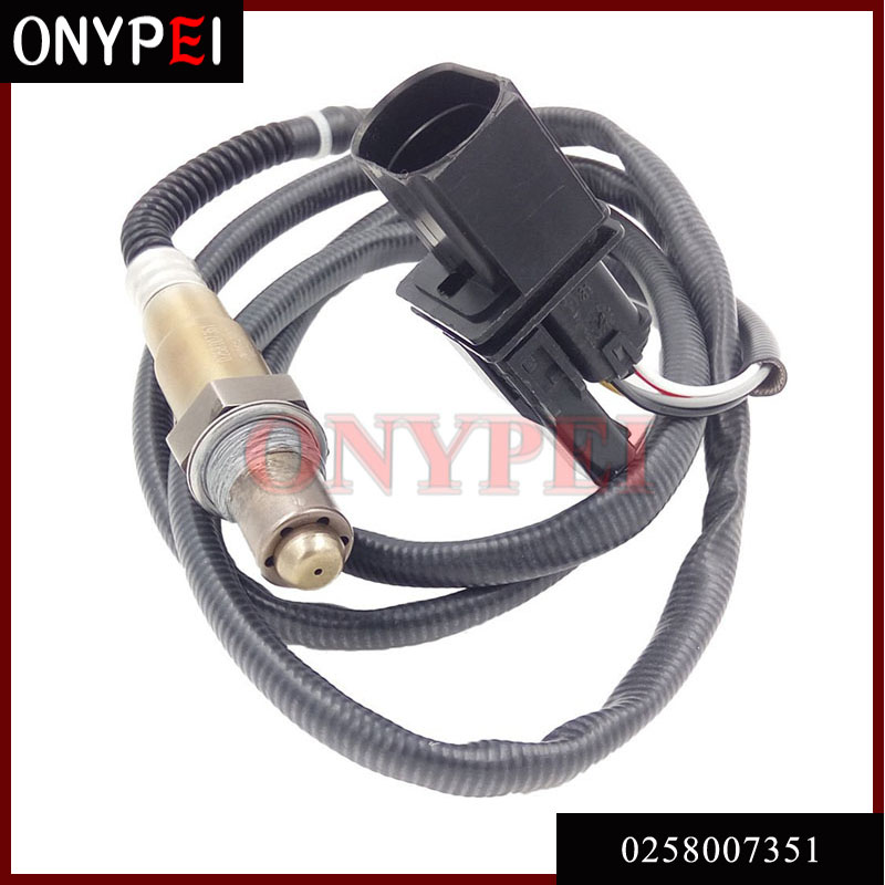 Lambda Oxygen Sensor 0258007351 For Skoda 99-05 VW Jetta 1.8L-L4 Part No# <font><b>0</b></font> <font><b>258</b></font> <font><b>007</b></font> <font><b>351</b></font> 1K0998262D image