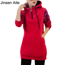 Winter&Autumn Fashion Women Hoodies Sweatshirts Plus Size Loose Outwear Vintage Print Fleece Pullovers Moleton Feminine 3026
