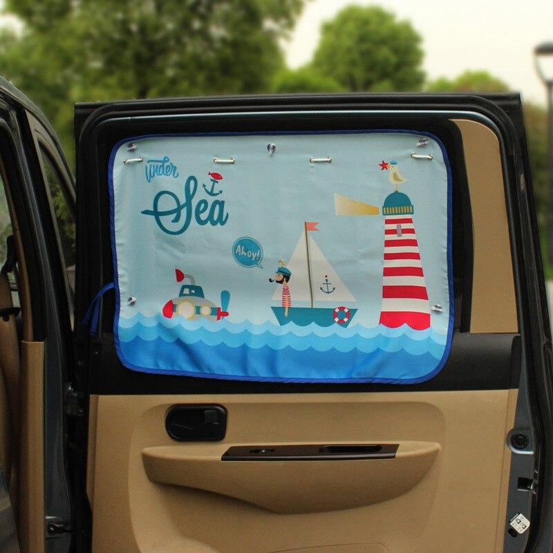 70*50 см мультфильм автомобиль занавес Крышка солнцем, авто занавес боковые Блокировка на растяжение зонт занавес для детей автомобиль-стайлинг
