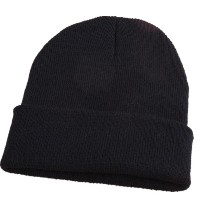 Hot Selling Unisex Women Men Winter Hat Snap Back Muts Knit Hip Hop Beanie Warm Cap Bonnet Femme Solid Color Free Shipping F1