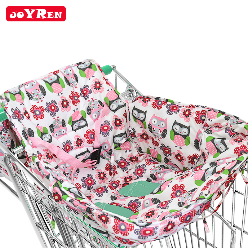 Shopping Cart Cover | High Chair Cover for Baby 2-in-1 Cushy Cart Cover and Seat Positioner By JOYREN