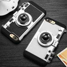 3D Camera Design Case For iPhone 5 6 7 8 and Plus