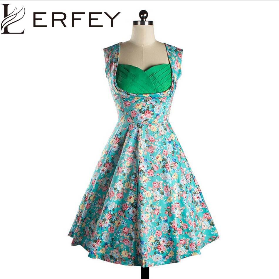 LERFEY estidos Summer Women Dress Vintage Retro Party Dresses ...