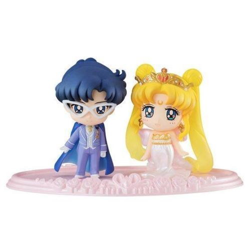 Bishoujo Senshi Sailor Moon Petit Chara Neo Queen Serenity & King Endymion Figure Set Japan Anime Mascot Toy 100% Original sailor moon stained crystal light gashapon set of 4 japan anime mascot 100% original