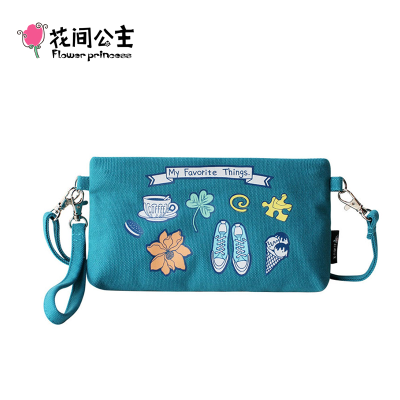 Flower Princess Brand Original Design Canvas Flap Bag font b Bolsos b font Mujer Ladies Small