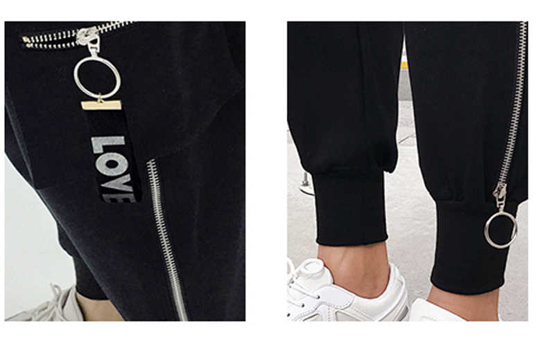Для мужчин Высокая уличная мода повседневное штаны шаровары карман на молнии хип хоп Брюки карго Jogger мужской треники
