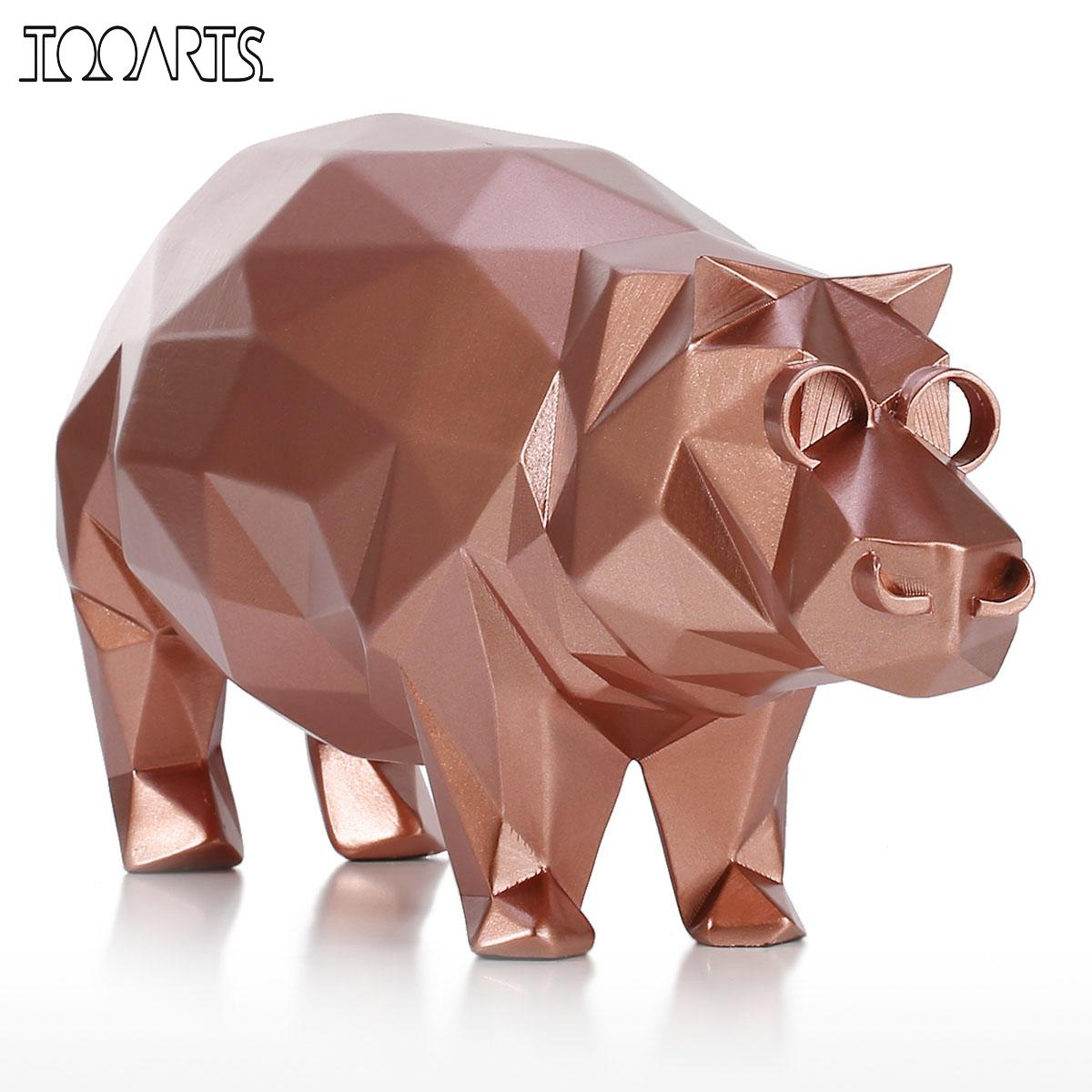 Tooarts Tomfeel Hippo Modern Sculpture Resin Sculpture Abstract Sculpture Animal Figurine Statues for Decoration Handmade Crafts