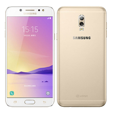 Ursprüngliches Entriegeltes Samsung Galaxy C8 C7100 16MP Frontkamera dual sim Octa-core 3G RAM 32G ROM Android 7.1 Lte 4G Mobile telefon