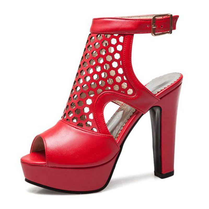 Blxqpyt пикантные модные летние сандалии женские большие размеры 34 50 свадебные туфли на высоком каблуке вечерние женская обувь Туфли лодочки н... - 4