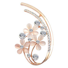 Luxury Hot Sale Brooch Opal Crystal Flower Corsage Brooch Wholesale Jewelry free shipping