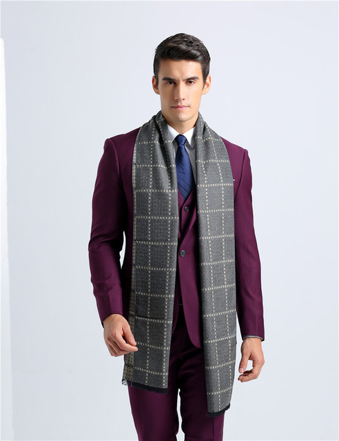 2017 homens ar cachecol clássico lenço projeto longo cachecol de caxemira quente lenços presentes para negócios de luxo casual xadrez clássico