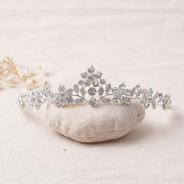 Wedding Crystal Veil-Accessories Headbands Hair Jewelry Crowns Bridal-Tiaras Rhinestone
