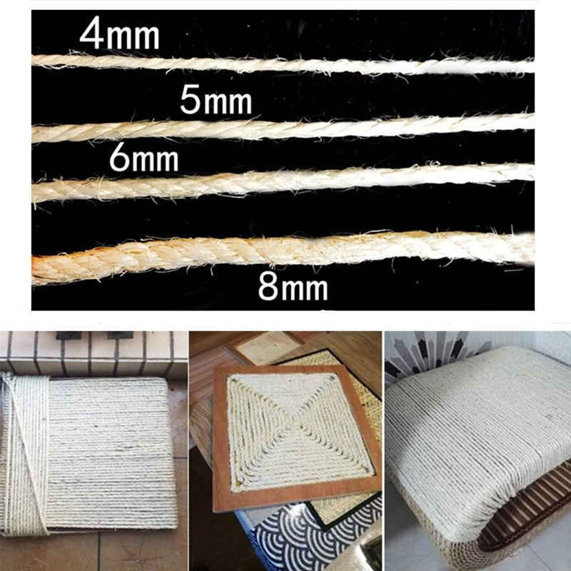Hot Sale Sisal Rope For Cats Scratching Post Toys Making Diy Desk