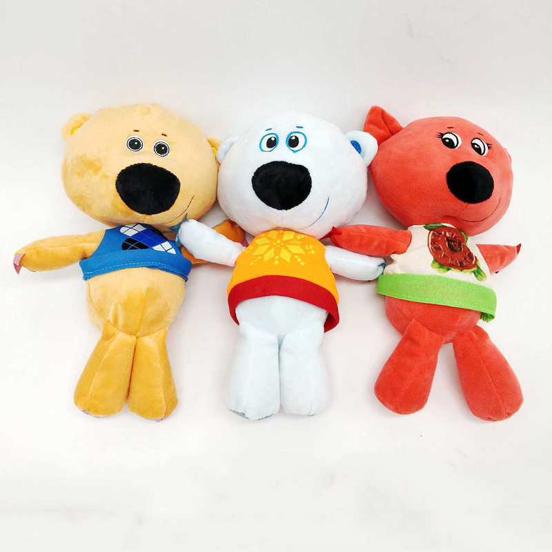 3pcs/Lot Russian Cartoon Plush Toy Bear Keychain For Children Birthday Gifts Anime Mimi Mishki Stuffed Doll 15cm