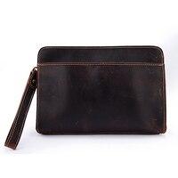 High Quality Leather Wallet Coffee Vintage Style Handbag Long Wallet Clutch Single Zipper Style Men bag Wholesale & Retail S2753