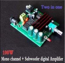 Tpa3116 100w mono subwoofer placa amplificador de baixo potência digital tpa3116d2 amplificadores