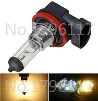 10Pcs DC 12V H11 100W 4300K Yellow Car Headlight Bulb Fog Lamp Bulb Clear Automobile Head Light bulb Auto Light Source
