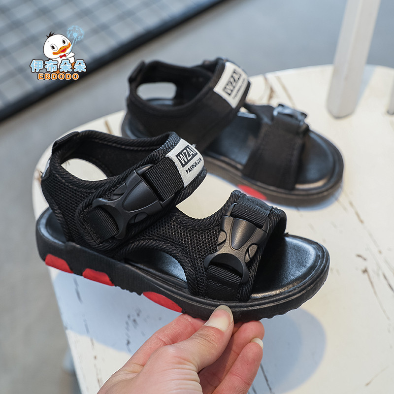 EBDODO for Boys sandals 2018 new Korean version childrens beach shoes summer kids childrens casual shoes