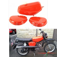Papanda Motorbike Steel Orange Gas Tank Fuel Tank + 2 Side Cover Protection for Simson S50 S51 S70 pazoma motorbike steel green orange gas tank motorcycle fuel tank for simson s50 s51 s70