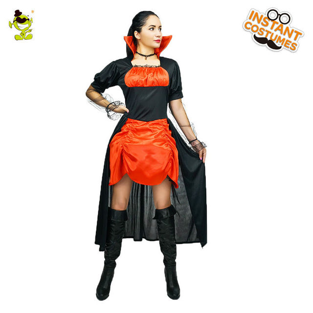 2018 Womenu0027s Deluxe V&iress Costume Gothic V&ire Dress Halloween Costumes  sc 1 st  AliExpress.com & 2018 Womenu0027s Deluxe Vampiress Costume Gothic Vampire Dress Halloween ...