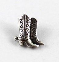 FREE SHIPPING 360pcs Tibetan silver cowboy boot button beads A15357