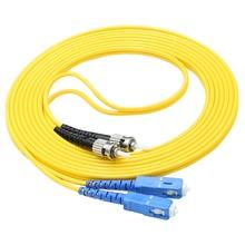 ST/UPC to FC/UPC Optical Fiber jumper Patch Cord  62.5/125um Fibre  Cable some research on optical fibre security