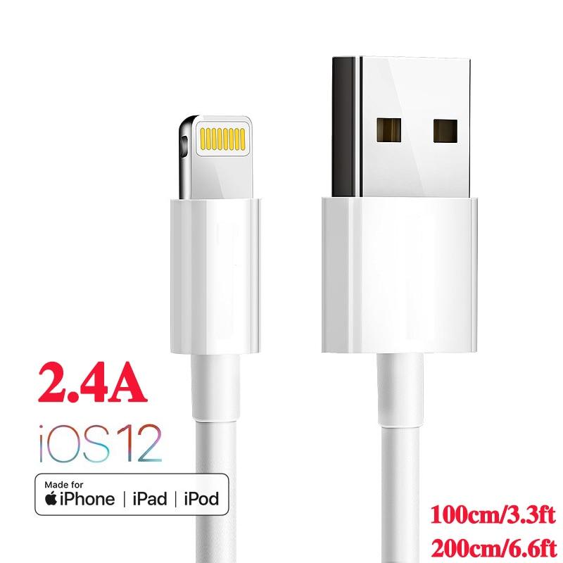 D'origine usine MFI certifié USB chargeur câble pour iphone XMAX XR XS X 5S 5c SE 6 s 7 8 plus ipad pro mini air 2.4A usb câble