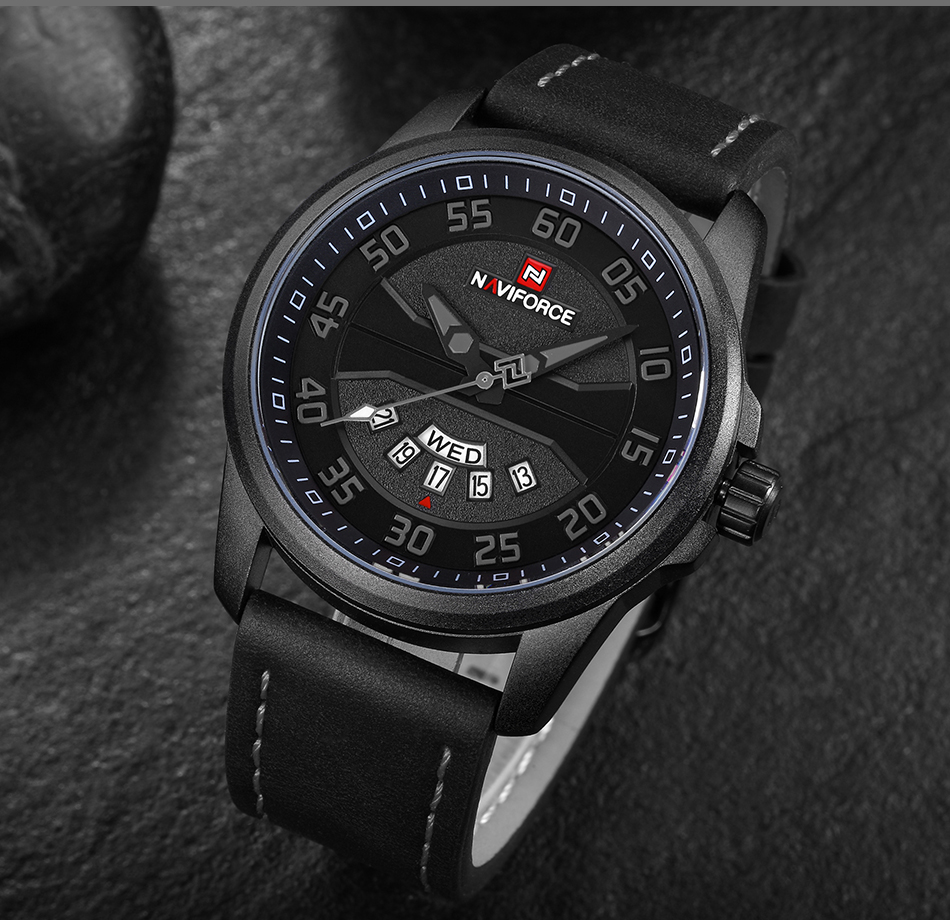 HTB14y7neK38SeJjSZFPq6A vFXar NEW Luxury Brand NAVIFORCE Men Fashion Sport Watches Men's Quartz Clock Man Leather Army Military Wrist Watch relogio masculino