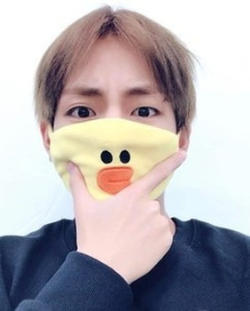 New Kpop Boys Mask Mouth Same Sally Chicken Brown Bear Dust-proof Warm Mask Face Muffle Respirator Cotton