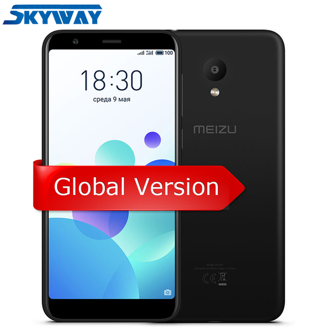 "Original Meizu M8C M8 C 2GB 16GB ROM Global Version M810H Smartphone Qualcomm 425 Quad Core 5.45"" 18:9 Full Screen 13.0MP Camera"