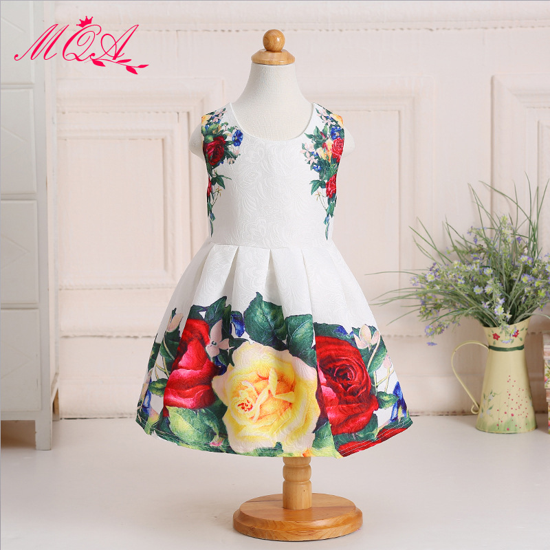 girls party dress kids girls clothing brands european style baby clothes fashion girl frocks age 8 cotton sundress Casual NQ116