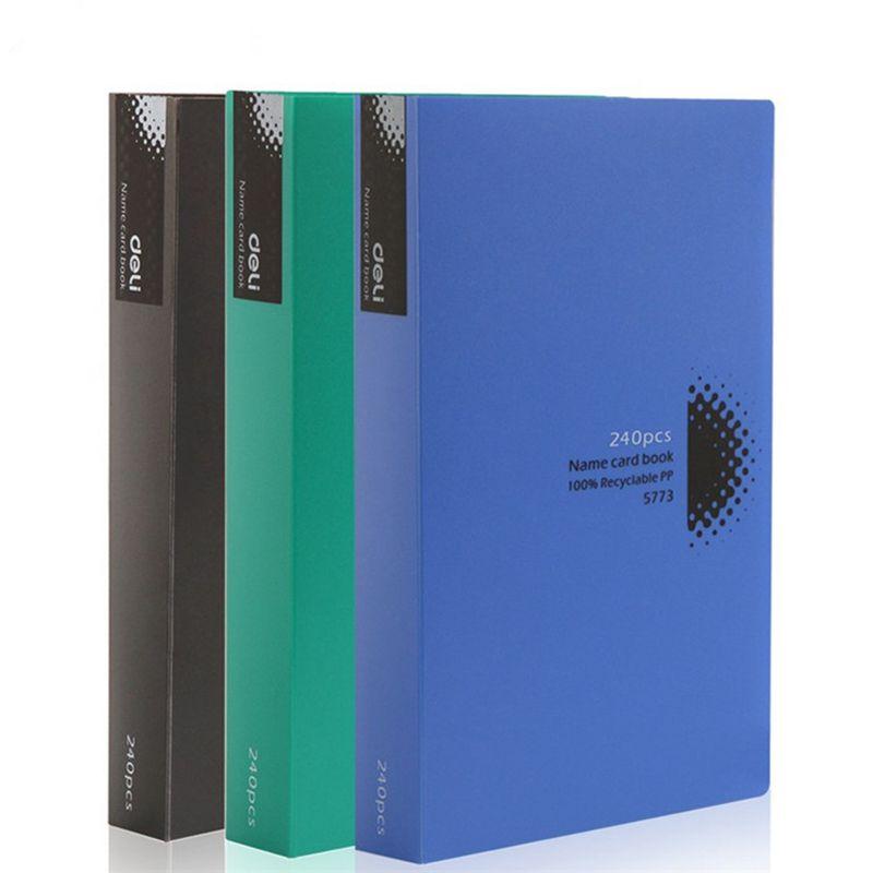 1 Stücke Visitenkarte Buch Halter Lager Journal Karte Veranstalter 240 Karten Schwarz Büro Lieferungen Schreibwaren 5773 Modische Muster