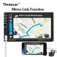 Android Mirror 7018B Autoradio 2 Din 7 Inch LCD Touch Screen Car Radio Player Bluetooth Car