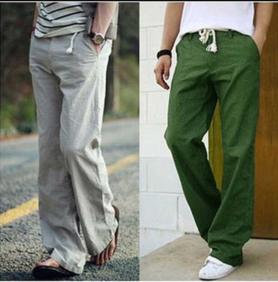 baggy linen pants for men - Pi Pants