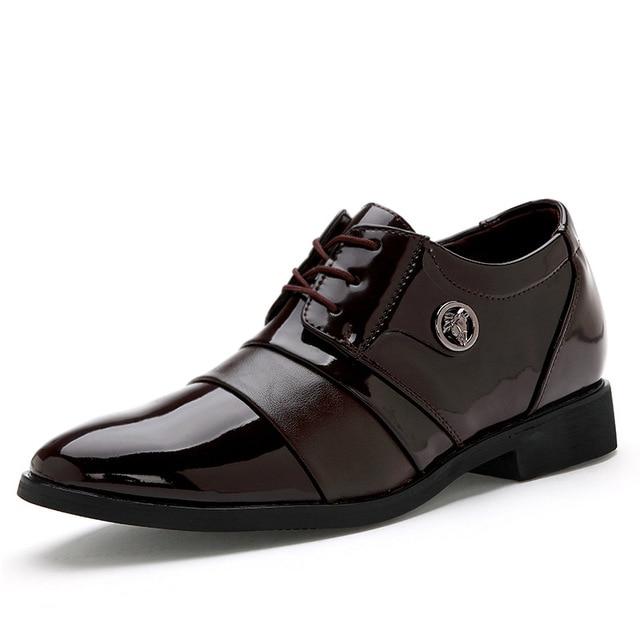 reunirse 51a19 6f118 Señaló Clásicos Hombre Creciente Altura Oxfords Zapatos Para ...