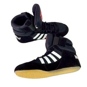 Zapatos de lucha de boxeo profesional, suela de goma, zapatillas de combate transpirables, calzado Scarpe Boxe, Uomo, talla 36-46