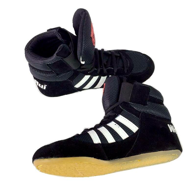US $15.99  Professionele Boksen Worstelen Schoenen Rubberen Zool Ademende Combat Schoen Sneakers Scarpe Boxe Uomo Size 36 46 in Worstelschoenen van