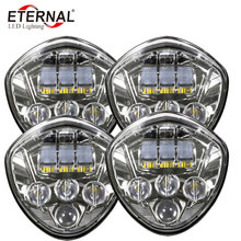 free shipping 4pcs x 60W LED motorcycle headlamp High-intensity 12V/24V headlight for Victory CRUISERS 2007-2016 Cross Country