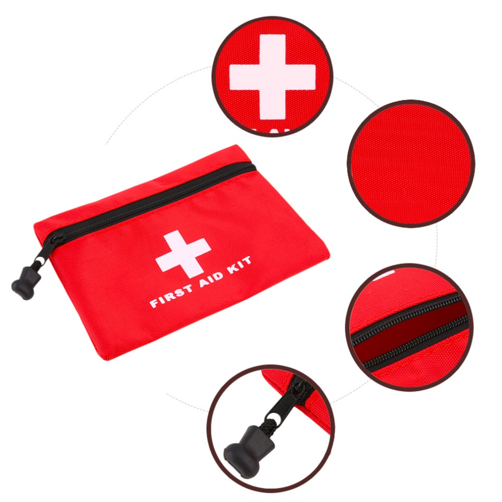 Free Shipping Waterproof Mini Outdoor Travel Car First Aid kit Home Small Medical Box Emergency Survival kit Household outdoor travel kit blue waterproof band aid metal detective food bandage blue color for food processing l 015