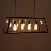 Negro de La Vendimia Luz Colgante de Loft Industrial Luces de Estilo Nórdico Retro Lámparas de Araña 4 Cabezas Edison Lámpara de La Sala de Comedor WPL204