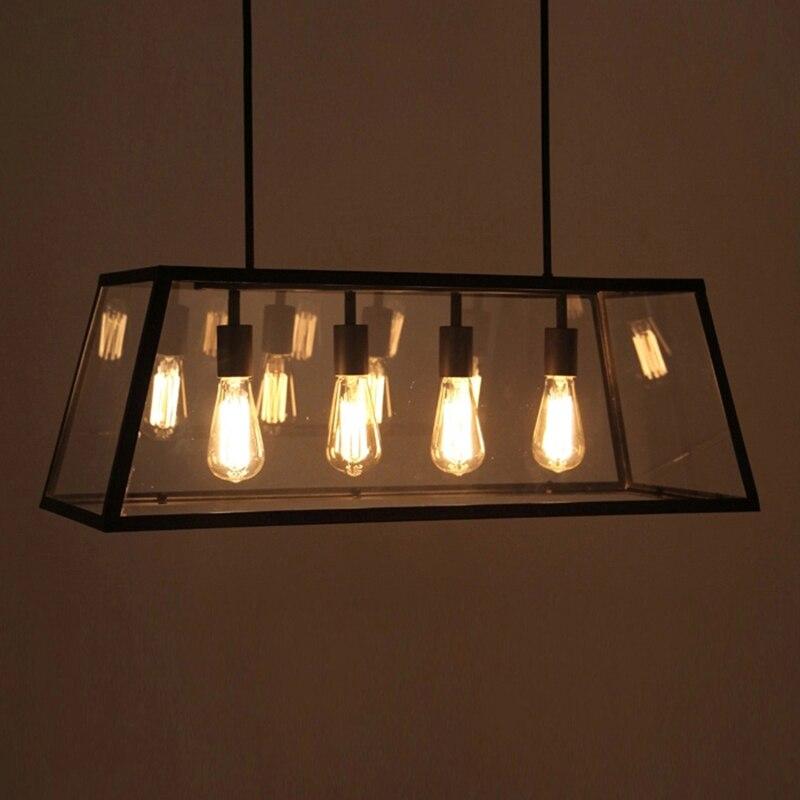 Schwarz Jahrgang Industrielle Pendelleuchte Loft Stil Lichter Nordic Retro Lampen Spinne 4 Kpfe Edison Esszimmer Wohnzimmer