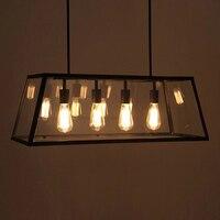Black Vintage Industrial Pendant Light Loft Style Lights Nordic Retro Lamps Spider 4 Heads Edison Dining Living Room Lamp WPL204