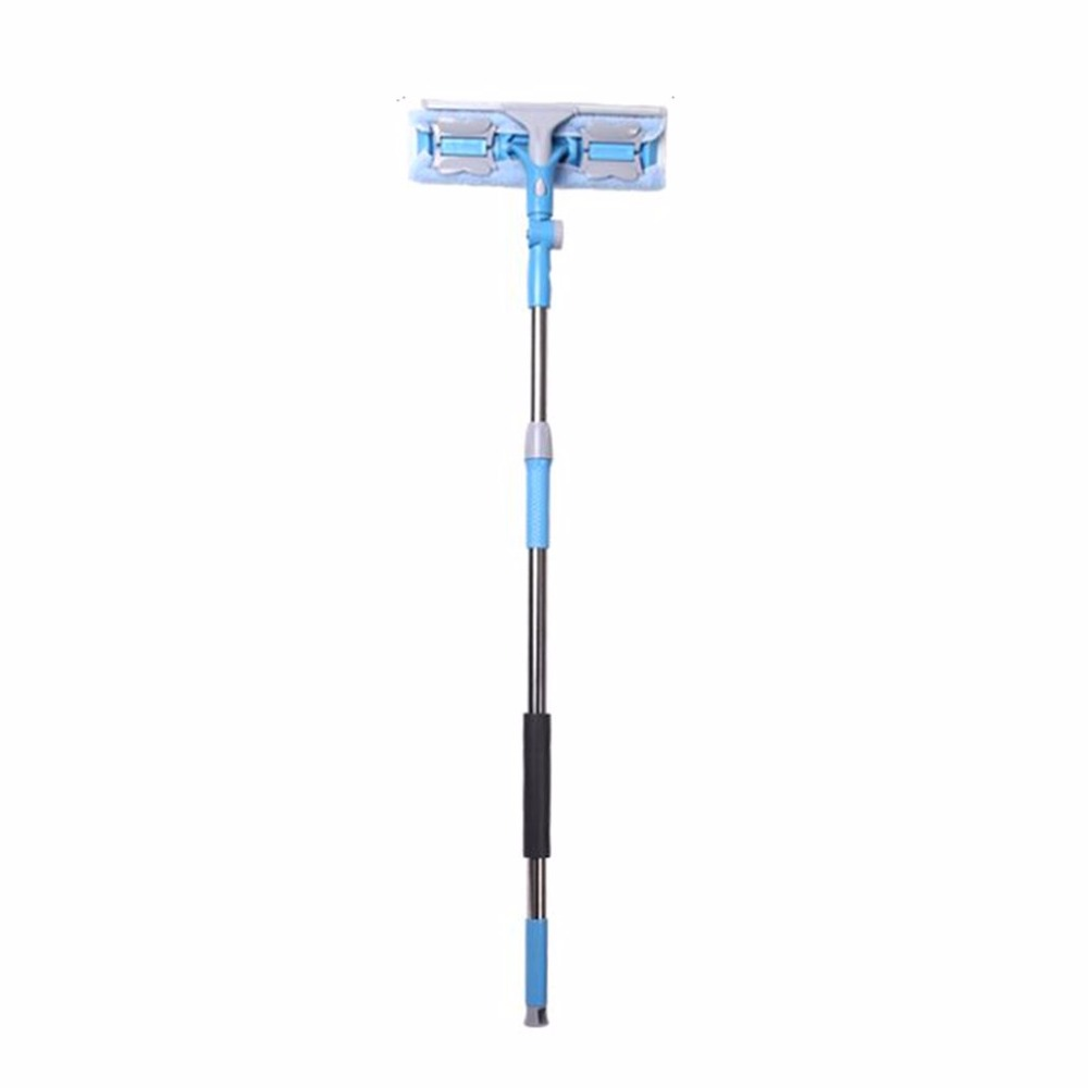 Universal Household Glass Window Cleaning Tool Telescopic Rod Double Sided Long Handle Window Cleaner Glass Scraper Hot New