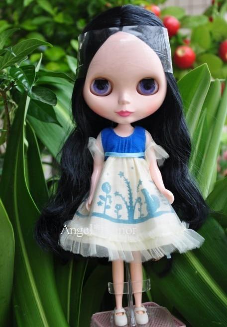 Nude blyth Doll, black hair black skin Factory doll